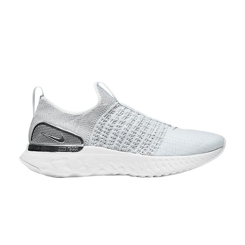 Nike React Phantom Run Flyknit 2 Premium 'Pure Platinum White ...